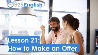 How to Make an Offer in English | 925 English Lesson 21 | Learn English with 925 English