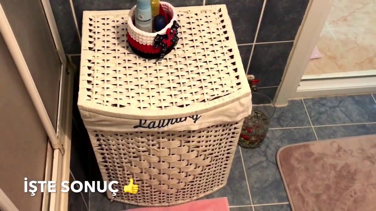çamaşır Sepetini Beyaz Boya Ile Yeniledik Youtube