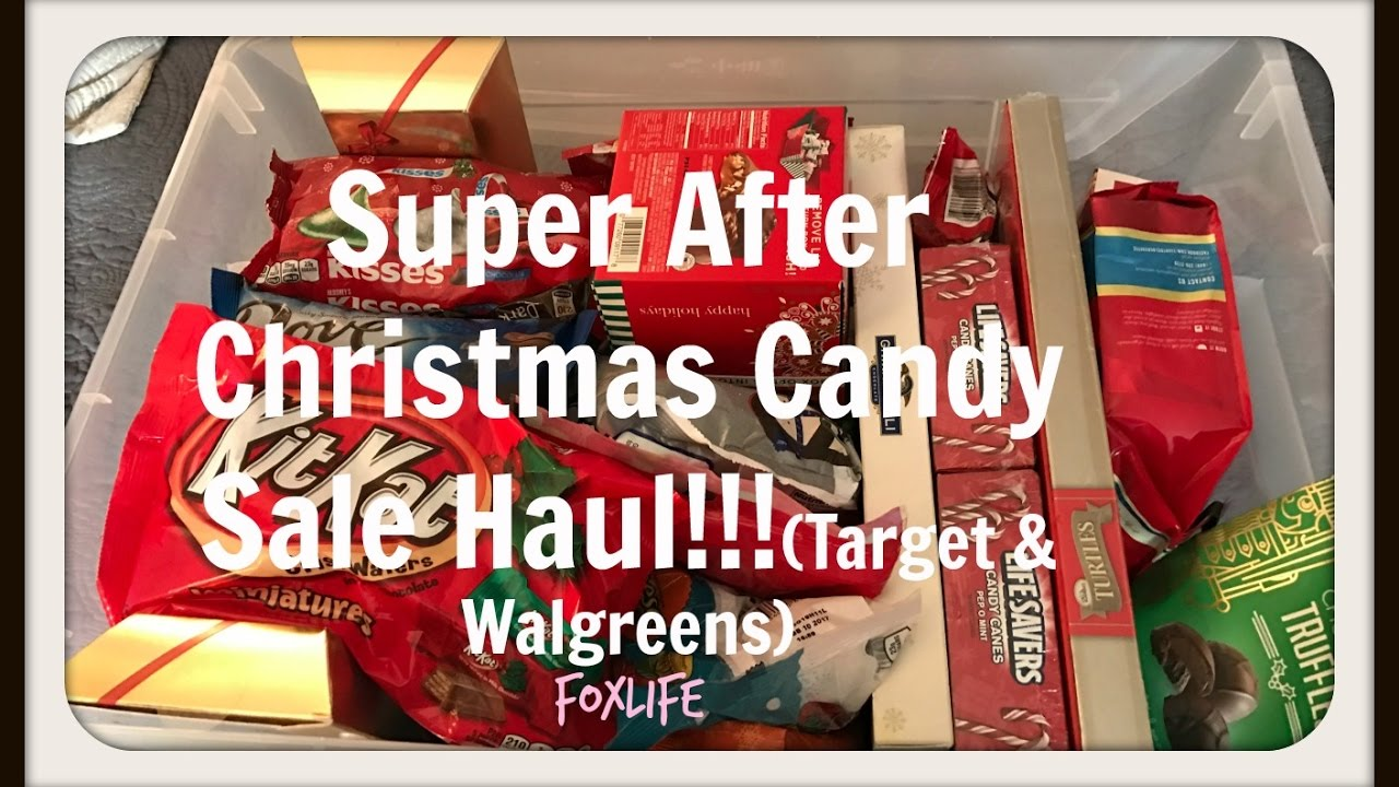 Super After Christmas Candy Sale Haul (Target & Walgreens) - YouTube