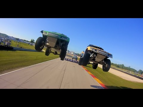 Experience the Thrill of a Stadium Super Truck Race From Robby Gordon's Rear Bumper