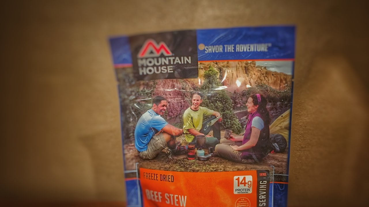 Camping Food Review Mountain House Beef Stroganoff - YouTube