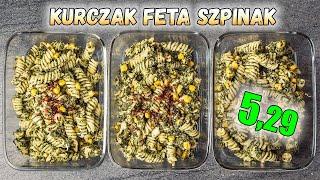 Makaron + kurczak w sosie FETA szpinak - LunchBOX na 3 dni
