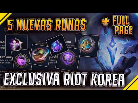 CINCO nuevas RUNAS REVELADAS en COREA en EXCLUSIVA | Noticias League Of Legends LoL