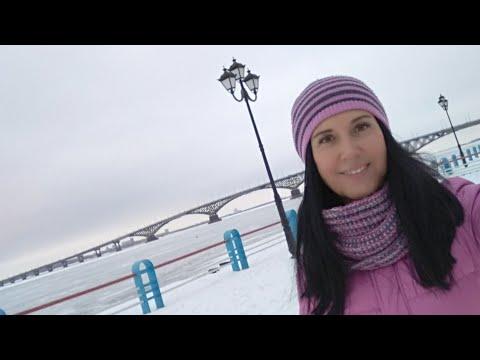 Зимняя пробежечка по Саратовской набережной ❄️☺️. Мой будний день после праздников.