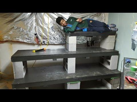 Aquarium rack build fish room make over youtube for Fish tank rack