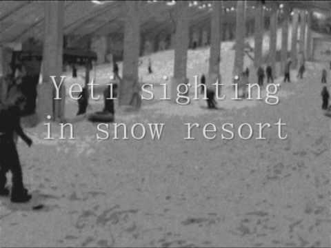 Yeti sighting in snow resort, Holland