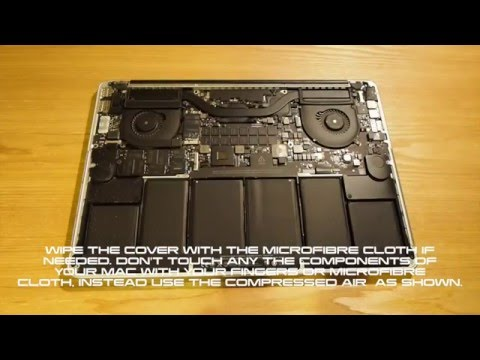 How to clean your Retina Macbook Pro Inside and Out - Stop fan noise and overheating