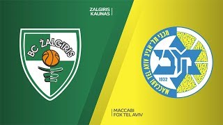 Zalgiris Kaunas - Maccabi FOX Tel Aviv Highlights | Turkish Airlines EuroLeague, RS Round 17