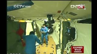 Astronauts Entering Tiangong - 1  Part 2 of  3   06-18-2012