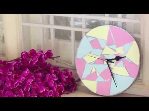 DIY TRENDY WALL CLOCK | LOVELY WALL CLOCK MAKING IDEAS |