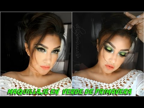 Maquillaje en VERDE de Primavera (platicando)/ GREEN spring makeup tutorial | auroramakeup