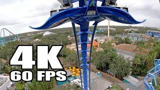 4K 60FPS *AWESOME* Manta Roller Coaster POV Onride Footage SeaWorld Orlando GoPro Hero 6