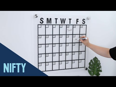 Floating Minimalist Wall Calendar