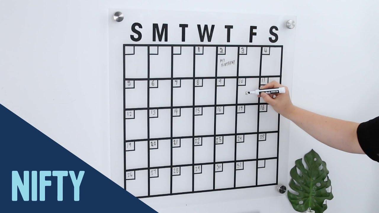 Floating Minimalist Wall Calendar