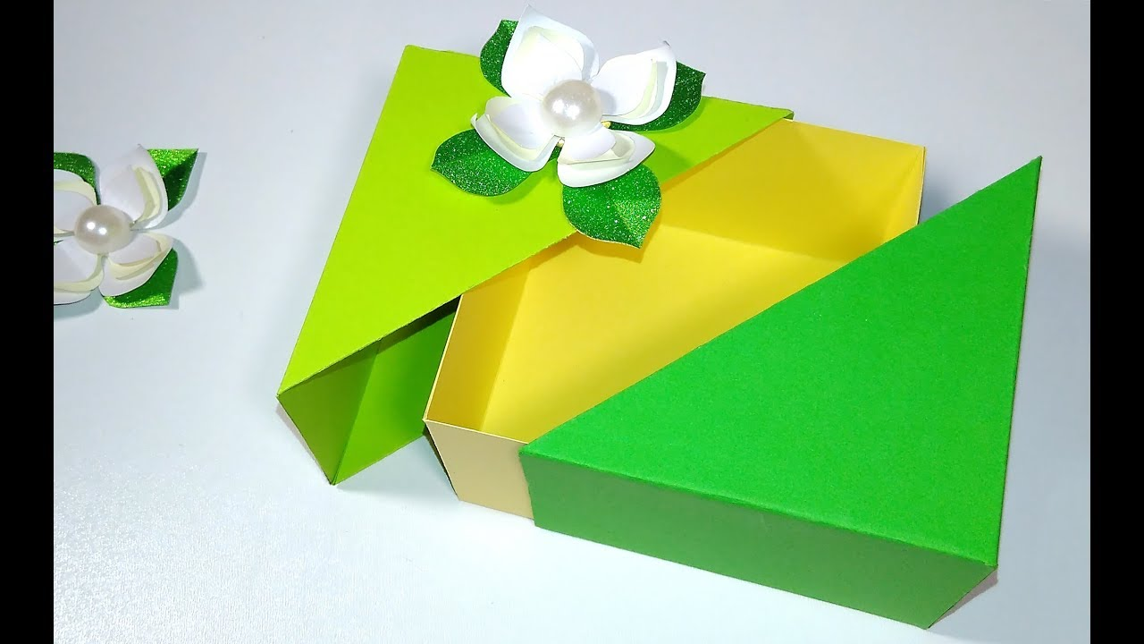 Unique Diy Gift Box With Lid Any Size You Want Easy Tutorial Easter Gift Box