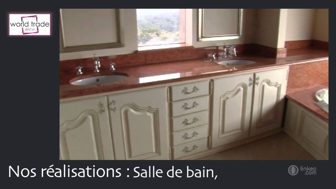 marbre sur mesure cuisine salle de bain sol toulouse world trade deco youtube. Black Bedroom Furniture Sets. Home Design Ideas