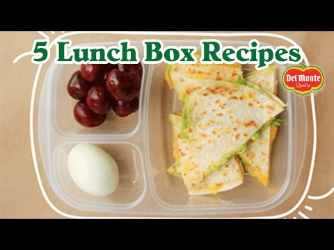 5 Easy Back to School Lunch Box Recipes from Del Monte