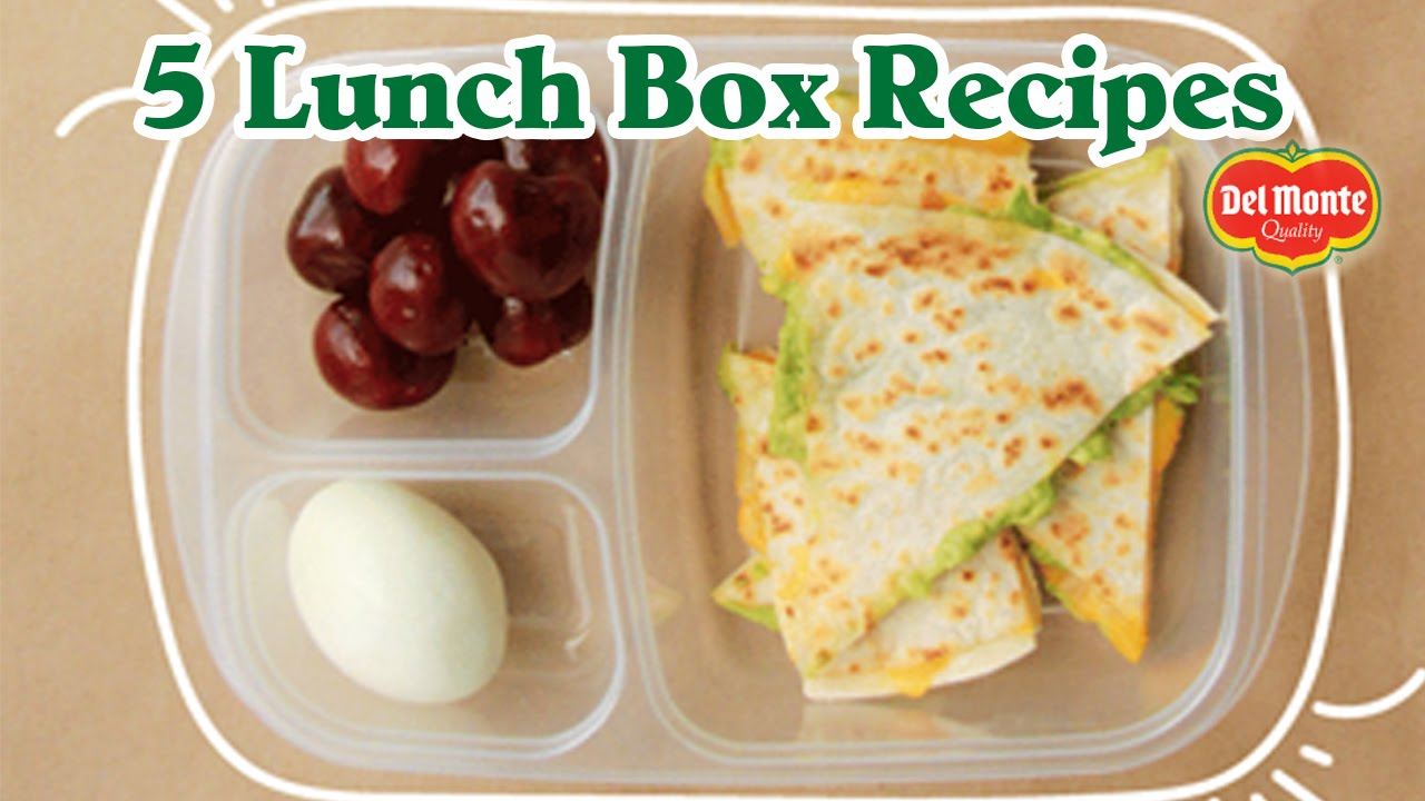 5 easy back to school lunch box recipes from del monte. Black Bedroom Furniture Sets. Home Design Ideas
