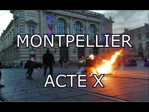 Acte 10 gilet jaune Montpellier - Tension extrême dans le centre ville (VERSION COURTE)
