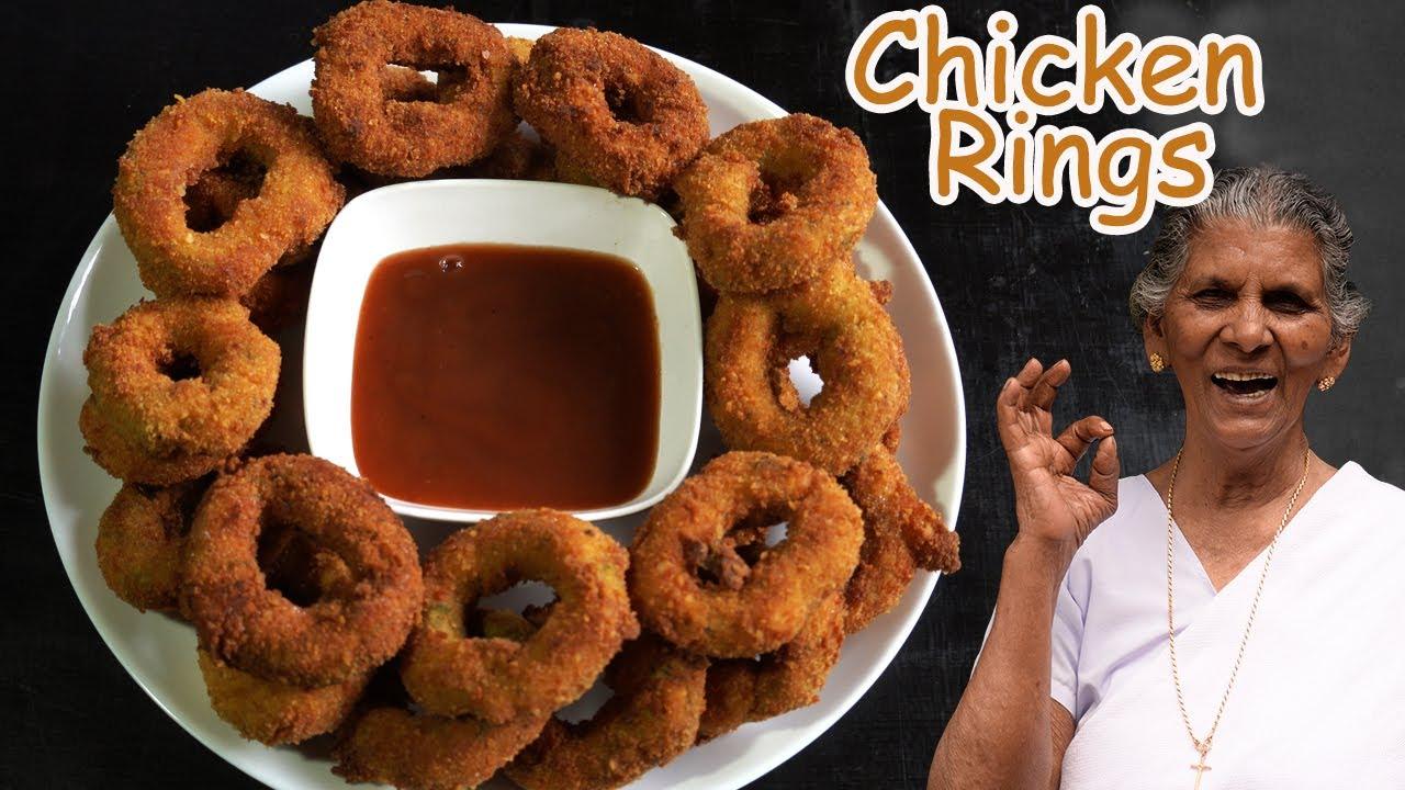 ടേസ്റ്റി ചിക്കൻ റിങ്സ് | Chicken Rings Recipe | Crunchy snack| Annammachedathi special