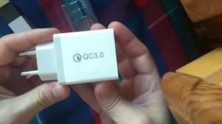 видео Gocomma QC 3.0 — нагрузочное тестирование зарядного устройства на 3А