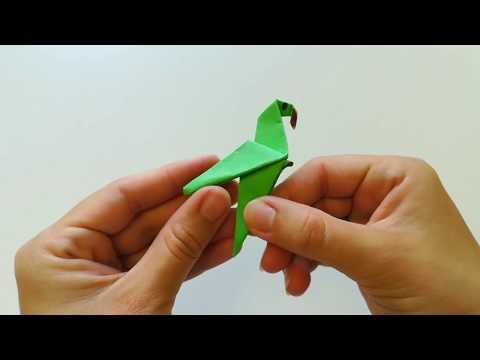 Легкое оригами из бумаги Попугай 🐦🐦🐦-  Easy Paper Origami Parrot