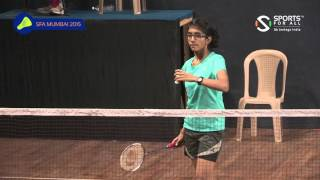 SFA Mumbai 2015 | Badminton | Sudeepta Rane Vs Teertha Shetty | U15 | Girls | R1