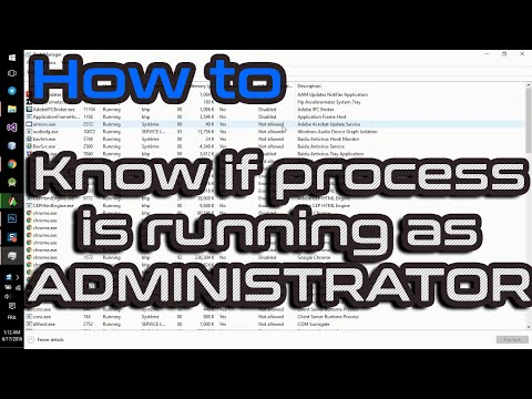 See If Process Is Running As Administrator Elevated