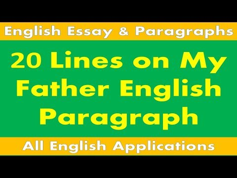 My Father English Paragraph for kids