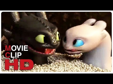 Toothless And Light Fury Date Scene - HOW TO TRAIN YOUR DRAGON 3 (2019) Movie CLIP HD
