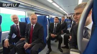 بوتين يفتتح خط مترو جديد في موسكو