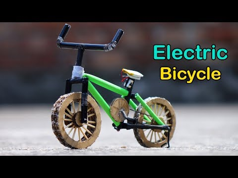 How To Make A Motorized Bicycle At Home Using Cardboard And Paper