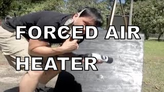 Forced Air Heater Solar PART 3 Passive Heating HOW TO Use Sunlight Power Wooden Frame