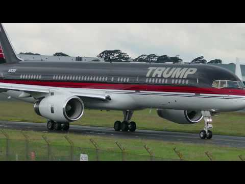 Donald Trump's B757 Biz Jet departs Glasgow Prestwick International for Aberdeen