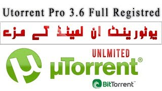 Unlimited Speed UTorrent  Pro 3.6 Full-registration  Free Download With Fast Speed