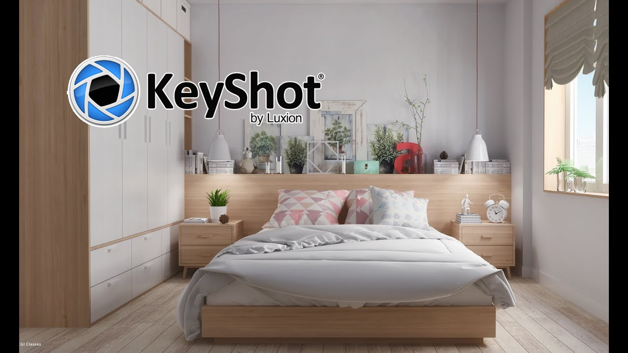 keyshot  interior scene shot test environment lights  materials scene  youtube