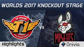 SKT vs MSF Highlights Game 1 World Championship 2017 Knockout Stage...