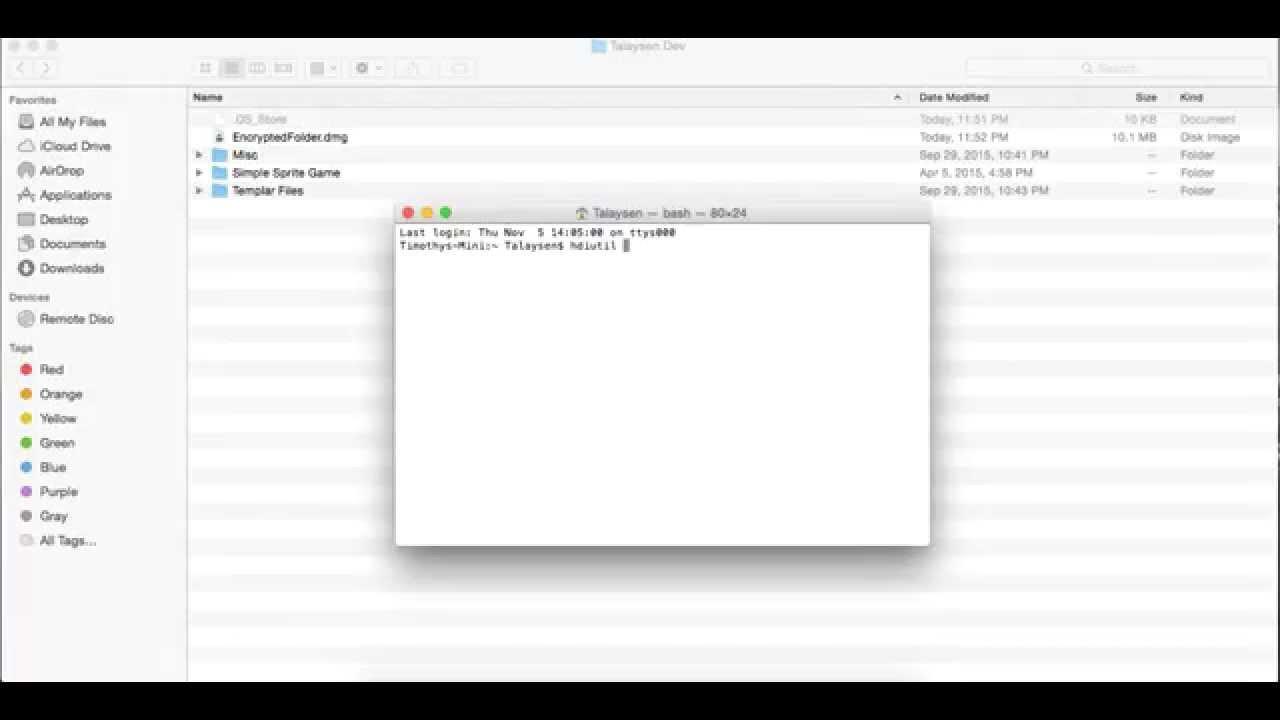 encrypted document on mac