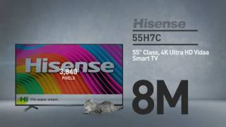 Hisense 55H7C H7 series 4K smart TV // Full Specs Review  #Hisense