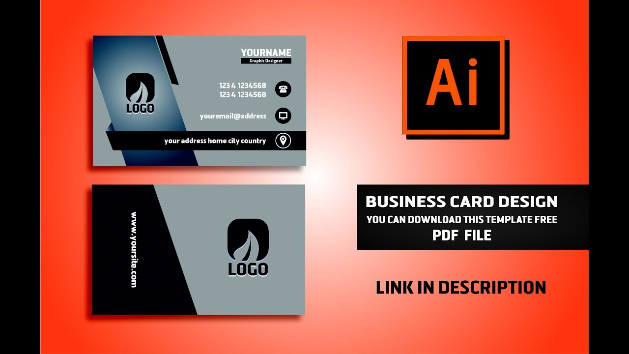 Business card Design Vector File Free Download | Illustrator CC ...
