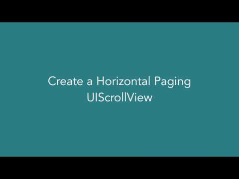 Create a Horizontal Paging UIScrollView with UIPageControl