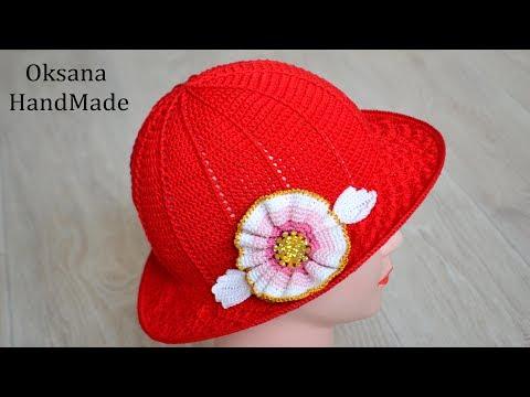 Шляпа крючком, вязание для начинающих. Мастер класс. Hat Crochet