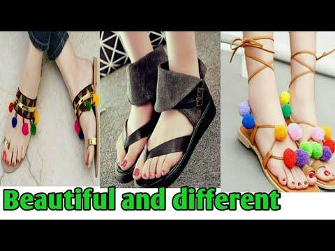 Flat sandal / chappal / footwear design