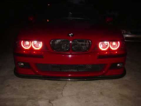 Bmw E39 M5 Red Angel Eye Youtube