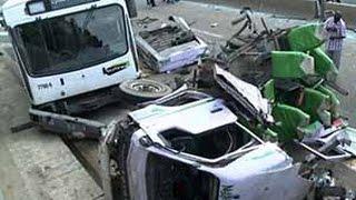 Grave accident de la route sous l