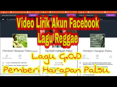 Lagu Reggae G.O.D Pemberi Harapan Palsu_Lirik Akun Facebook