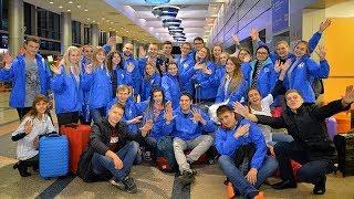 Отправление омской делегации участников на Всемирный фестиваль молодежи и студентов в Сочи