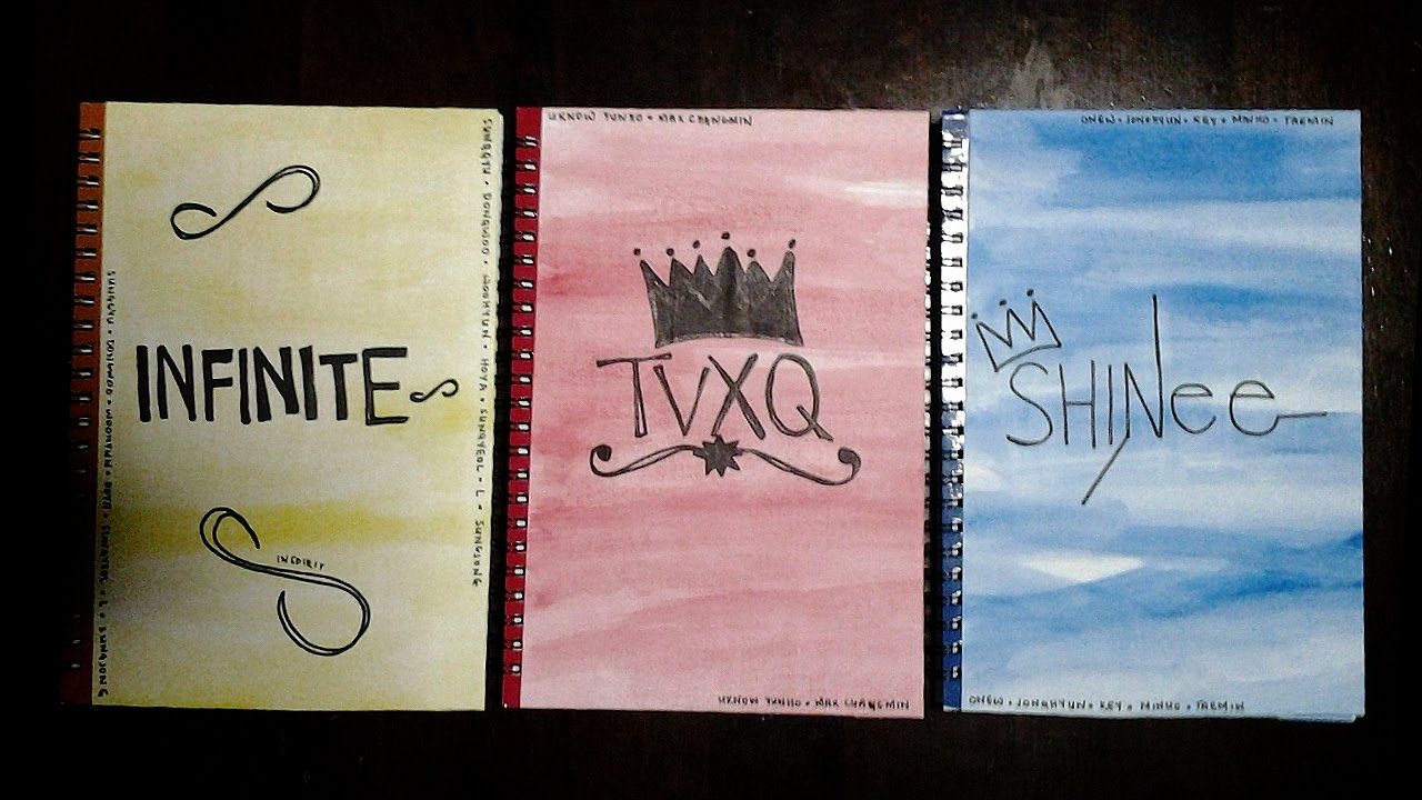 Diy Kpop Book Cover ~ Diy kpop inspired notebook cover giveaway close