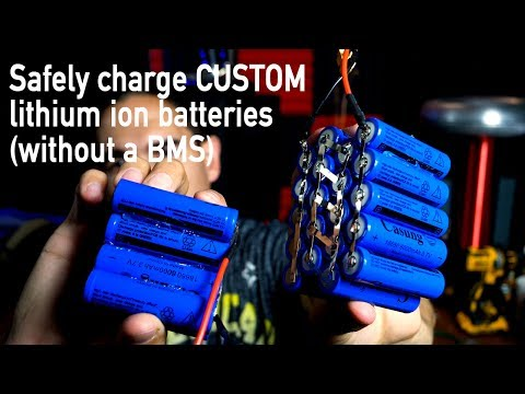 How to charge custom lithium ion batteries (without a BMS)