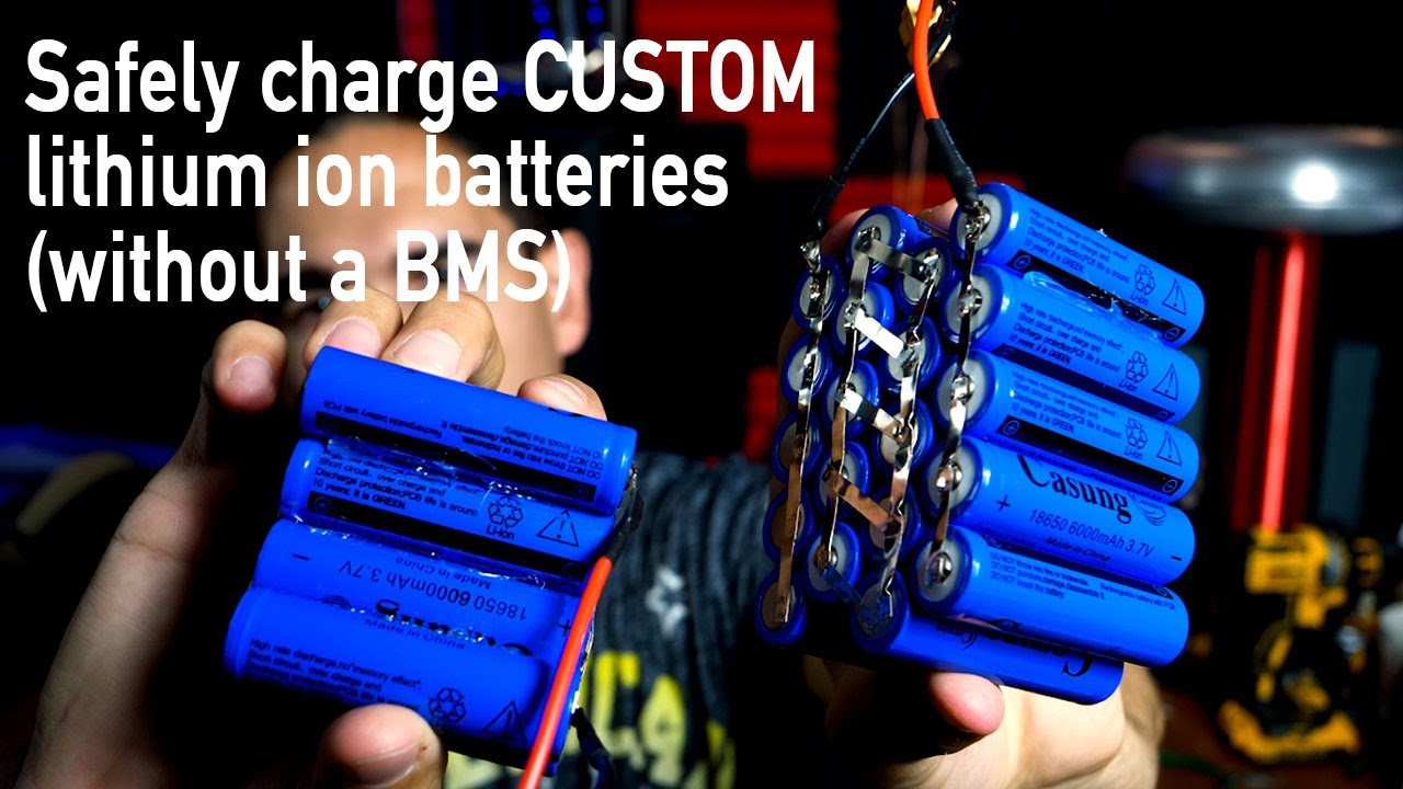 How To Charge Custom Lithium Ion Batteries Without A Bms Youtube 12 Volt Charging System Diagram Wiring Schematic